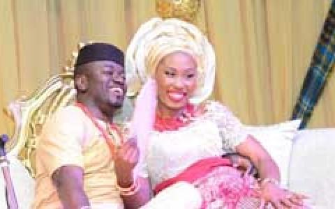 Uche Nnaji and wife