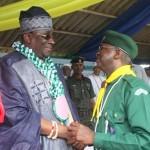 Lagos State Governor, Mr. Babatunde  Fashola SAN (right) with the Oba  of  Lagos  Oba  Rilwan  Akiolu 1