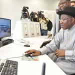 President GoodluckJonathan inspecting the project