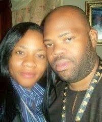With wife, Yemisi