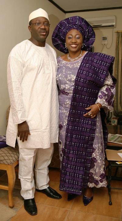 ...with husband, Governor Kayode Fayemi