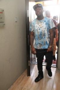 1-Davido entering the venue