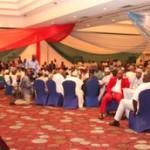 Lagos State Governor, Mr. Babatunde Fashola SAN (left) delivering his keynote address