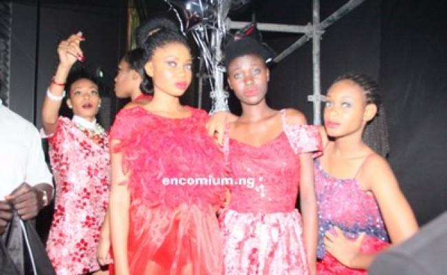House Of Nwocha models before the fashion show at FOZ