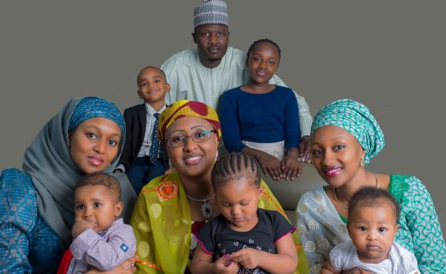 Bottom-row-From-left-Safina-Buhari-Mrs-Aisha-BuhariHalima-Buhari-Sherifftop-row-from-right-Noor-and-Mohammed-Sheriff