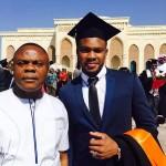 Danduko and son at the University City Hall