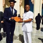Receiving AUS degree certificate
