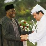 President Jonathan (l)