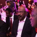 Lagos State Governor, Mr. Babatunde Fashola, SAN (left), Deputy Director-General of the GMB/PYO Presidential Camapign Organisation, Senator Olorunnimbe Mamora (middle), and National Publicity Secretary, All Progressives Congress, Alhaji Lai Mohammed (right)