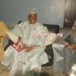 Alhaja Kuburat Okoya, with the Celebrant. Alhaji Chief Rasak Okoya & Chief Mrs Shade Okoya