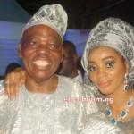 Celebrant. Alhaji Chief Rasak Okoya with Wife Chief Mrs Shade Okoya