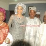 Chief Mrs Ojuolape Ojora, Chief Mrs Shade Okoya with Hubby Alhaji Chief Rasak Okoya(Celebrant) & Chief Adekunle Ojora