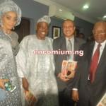 Chief Mrs Shade Okoya with Hubby Alhaji Chief Rasak Okoya(Celebrant), Prof. Phat Utomi & Otunba Subomi  Balogun