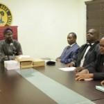 Governor Fashola, Attorney-General and Commissioner for Justice, Mr. Ade Ipaye, Mr. Kayode Opeifa, Chairman of the Tribunal, Hon. Ebenezer Adeyemi Adebajo (4th right), member, Mr. Nurudeen Ogbara (3rd right), member, Mr. Jude Igbanoi (2nd right) and Secretary, Ms. Olufunmilola Kessington