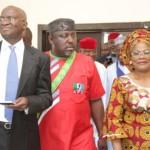Governor Fashola, Rochas Okorocha and Mrs. Titi Laoye-Tomori