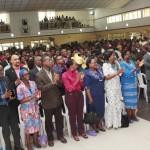 Cross section of Public Servants during a meeting with the Lagos State Governor, Mr. Babatunde Fashola, SAN at the Adeyemi Bero Auditorium, Alausa, Secretariat, Ikeja, Lagos