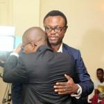 Publisher Yes Magazine, Azu Arinze and Efe Omorogbe in a warm embrace