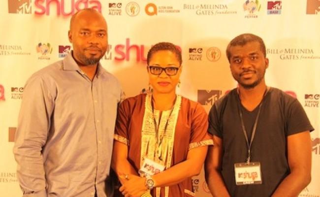 The casting directors, filmmaker, Tope Oshin-Ogun, Oluyomi Ososanya and marketing and partnership manager, MTV SAF, Emmanuel Uduma