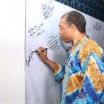 Femi Kuti on the autograph wall