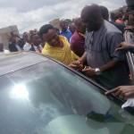 Funsho Adeolu with his car gift