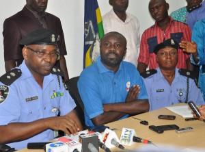 Police with fake doctor, Martins Ugwu Okpe
