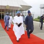Lagos State Governor, Mr. Akinwunmi Ambode (left) with his Ogun State counterpart, Senator Ibikunle Amosun (right)