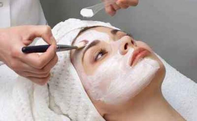 beauty salon series, facial mask applying