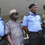 R-L:  Director, State Security Service, Mr. Adekunle Ajanaku, Lagos State Commissioner of Police, Mr. Fatai Owoseni, Chief of Staff to the Governor, Mr. Olukunle Ojo and Deputy Commissioner of Police, Operations, Mr. Johnson Kokumo