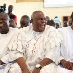 L-R: Lagos State Governor, Mr. Akinwunmi Ambode, with Governors of Taraba and Osun States, Arc. Darius Ishaku and Ogbeni Rauf Aregbesola