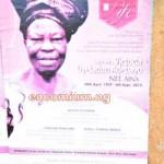 Late Mrs. Victoria Oyeladun Adebayo