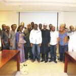 Steve Ayorinde with CEAN members and guests