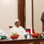 President Buhari, Vice President Prof. Yemi Osinbajo and Senate President Bukola Saraki
