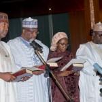 L-R Hadi Sirika, Abdulrahman Dambazau, Zainab Ahmed and Sulieman Adamut