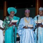L-R Claudius Omoyele, Kemi Adeosun, Abubakar Buari  and Ibrahim Jubril