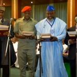 L-R  Rotimi Ameachi, Solomon Dalong, Adebayo Shittu and Isaac Adewole