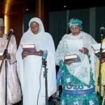 L-R Munsur Dan Ali, Khadija Bukar Ibrahim, Aisha Alhassan and Aisha Abubakar