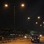 Illuminated Agidingbi road, Ikeja with Street Lights