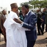 PRESIDENT BUHARI RECEIVES PRESIDENT BONI YAYI 000. President Muhammadu Buhari receives The President Republic of Benin, Mr Boni Yayi on arrival at the Presidential villa