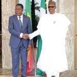 PRESIDENT BUHARI RECEIVES PRESIDENT BONI YAYI 000A&B. President Muhammadu Buhari receives The President Republic of Benin, Mr Boni Yayi on arrival at the Presidential villa in Abuja. PHOTO; SUNDAY AGHAEZE. JAN 14 2016.