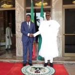 PRESIDENT BUHARI RECEIVES PRESIDENT BONI YAYI 000A&B. President Muhammadu Buhari receives The President Republic of Benin, Mr Boni Yayi