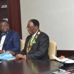 From left. Past president , Nigerian Society of Engineers (NSE), Mr. Khalil Inuwa; deputy president of  NSE, Mr. Kunle, Mokuolu ; president, NSE, Otis Anyaeji  and Vice President Yemi Osinbajo