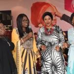 L-R: Wife of Lagos State Governor, Mrs. Bolanle Ambode (2nd left); Deputy Governor of Lagos State, (Dr.) Mrs. Oluranti Adebule; Managing Director, Princess Aisha Collection, Mrs. Shareefah Abiola Andu and Mrs. Modele Sarafa-Yusuf