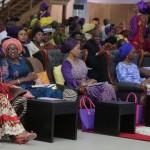 L-R: Wife of Ondo State Governor, Mrs. Oluwakemi Mimiko; Wife of Lagos State Governor, Mrs. Bolanle Ambode; Wife of Ogun State Governor, Mrs. Olufunso Amosun; Wife of the Vice President, Mrs. Dolapo Osinbajo and Pastor (Mrs.) Folu Adeboye