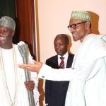 President Muhammadu Buhari, Vice President Yemi Osinbajo and the The Ooni of Ife HRH Oba Adeyeye Ogunwusi Ojaja 11
