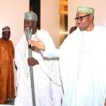President Muhammadu Buhari welcomes the The Ooni of Ife HRH Oba Adeyeye Ogunwusi Ojaja 11 to his office