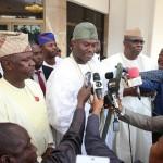 Oni of Ife HRH Oba Adeyeye Ogunwusi Ojaja 11 briefing State House Press after his meeting with President Muhammadu Buhari
