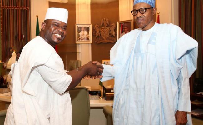 President Muhammadu Buhari and Governor Alhaji Yahaya Bello