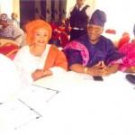 ...with hon. Fatai Oyesanya and wife