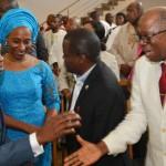 L  -  R    Vice  President  Yemi  Osinbajo, Wife  of  Vice  President  Mrs. Dolapo  Osinbajo, Mr. Femi  Osinbajo and   Rear Admiral P. O. Ohaleme (rtd)