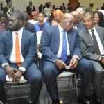 L-R: Chairman, Employment Trust Fund (ETF), Mrs. Ifueko Omoigui-Okauru; Executive Secretary, ETF, Mr. Akintunde Oyebode, members – Commissioner for Wealth Creation & Employment, Mr. Babatunde Durosinmi-Etti; Mr. Dele Martins; Mr. Michael Ajayi and other members behind